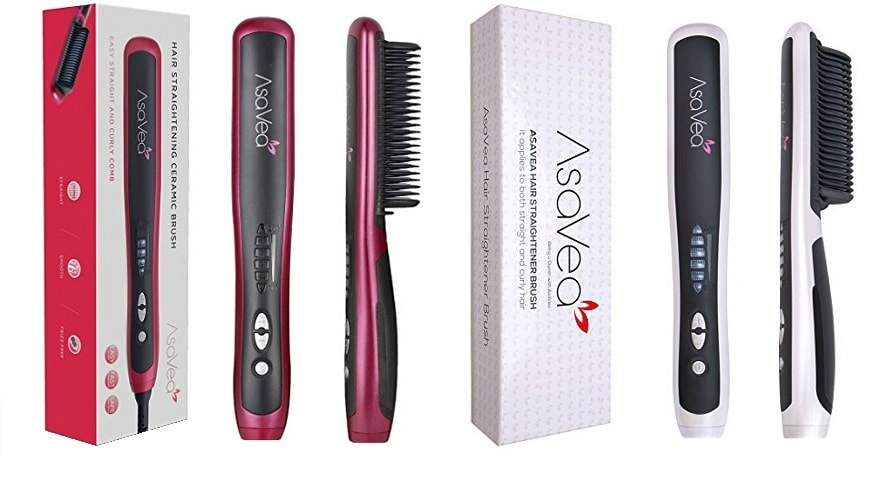 asavea hair straightening combs red and white