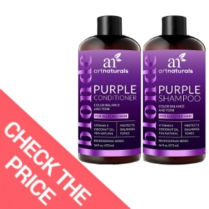 Best Natural Purple Shampoo and Conditioner – ArtNaturals Color Balance and Tone Purple Shampoo and Conditioner