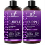 ArtNaturals Best Natural Purple Shampoo and Conditioner
