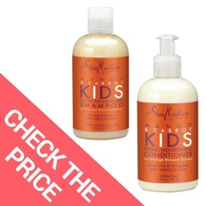 Best Natural Shampoo for Fine Hair – SheaMoisture Mango & Carrot KIDS Extra-Nourishing Shampoo and Conditioner