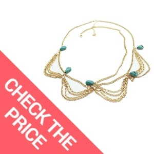759shop (TM) 1PC Unique Turquoise Chain Jewelry Headband Party Headpiece Hair Band For Girls