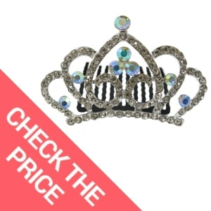 Princess Crown Comb Tiara Hair Clips For Princess Party Favor 12 pcs