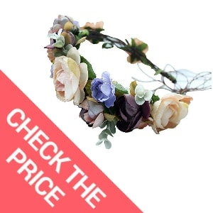 Vivivalue Handmade Adjustable Flower Wreath Headband Halo Floral Crown Garland Headpiece